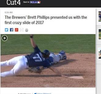 MLB》拒被觸殺!釀酒人小將神跑壘得分