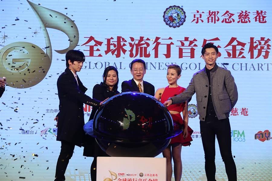 全球流行音樂盛典啟動儀式在北京舉行。(Hit Fm 聯播網提供)