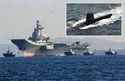 中日海戰假想 日本潛艇伏擊陸航母