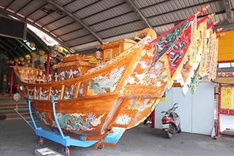 東隆宮預備明年迎王造船工作 典藏王船意外露臉