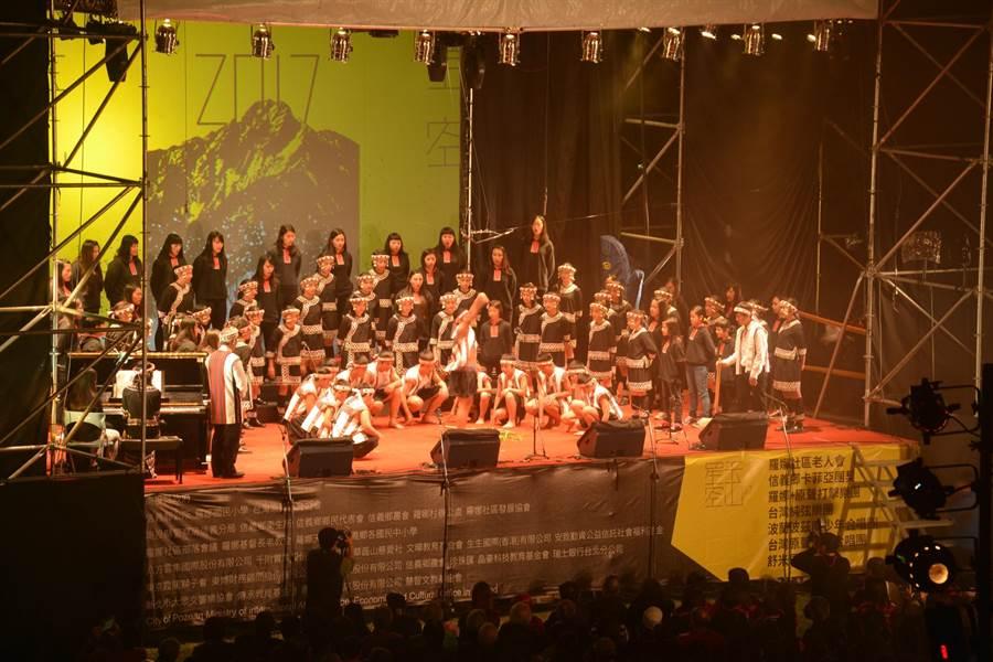 台灣原聲童聲合唱團「報戰功」。(沈揮勝攝)