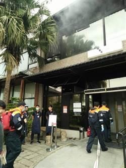 竹縣燒肉餐廳火警 消防人員迅速灌救