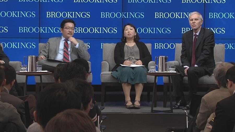 華府智庫布魯金斯學院舉辦台海研討會探討兩岸關係。(江靜玲攝)