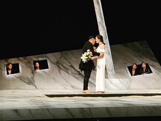 一公噸砂搬上舞台 台南人劇團打造黑色系希臘神話「夜鶯之戀」