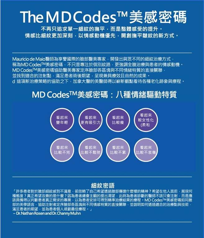MD CodesTM美感密碼八種情緒驅動特質(本報資料照片)