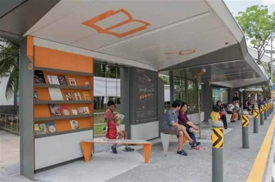 新加坡在裕廊試行智慧公車站計畫。(圖/翻攝好奇心日報)