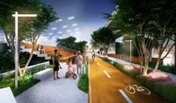 中市鐵路高架化  地面空間打造空中綠廊