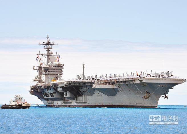 美國海軍航空母艦卡爾文森號15日參與美韓聯合演習。(取自美軍太平洋司令部官網)