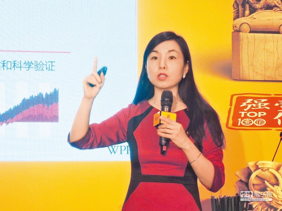 凱度華通明略全球總裁王幸20日表示,中國國際地位提高,讓海外消費者對中國品牌的接受度也在提升。(記者陳君碩攝)