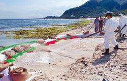 岸際砂石洗澎澎 綠島清油汙進尾聲