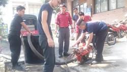 南投水里消防分隊 移動幫浦暨消防車汲水訓練