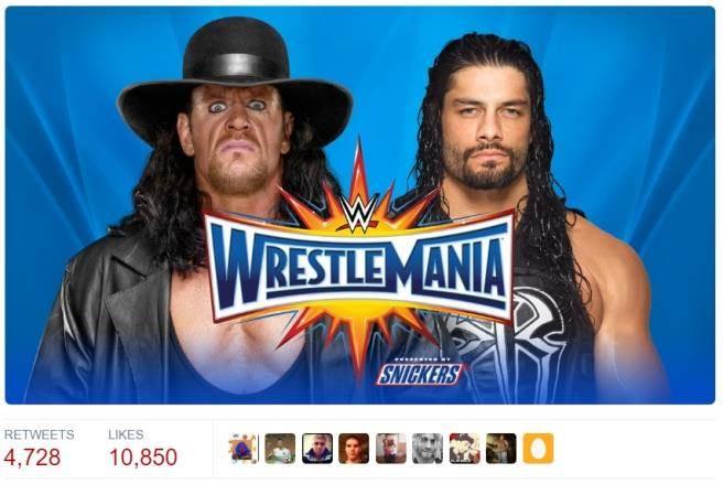 送葬者(左)將在摔角狂熱大賽對上瑞恩斯。(摘自WWE推特)