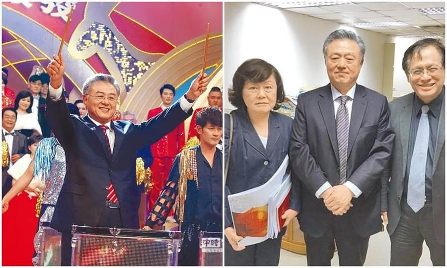 陳剛信曾帶領民視創造許多輝煌戰績,去年曾與董事長郭倍宏、總經理王明玉合影。(資料照)