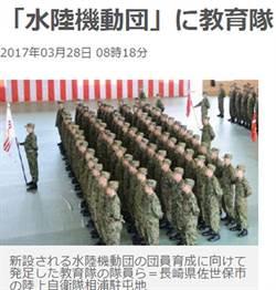 防中國奪島 日本籌建海軍陸戰隊