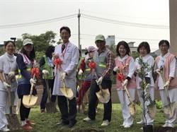 醫師變園丁 桃園醫院新屋分院植下18棵羅漢松樹苗