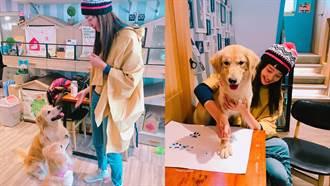 超模甜心王心恬愛犬聯名公益指彩 黃金獵犬特調色4月上市