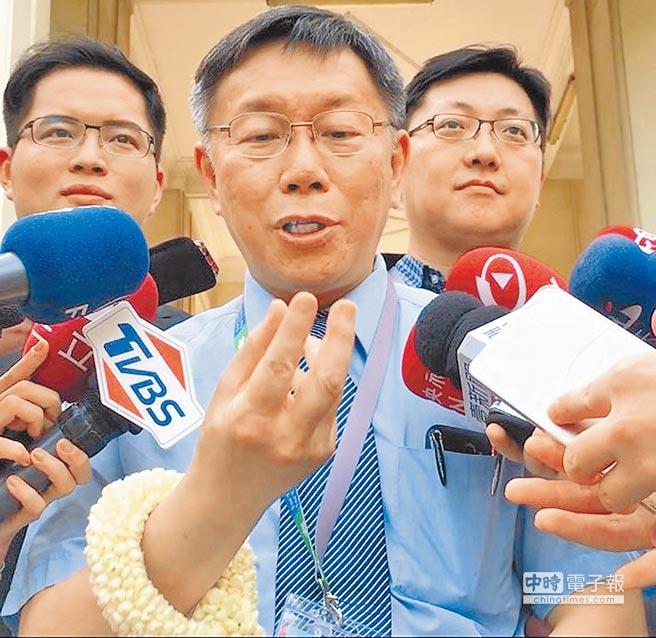 台北市長柯文哲率團訪問泰國推廣觀光,受訪時語出驚人,嚇壞幕僚。(張立勳攝)