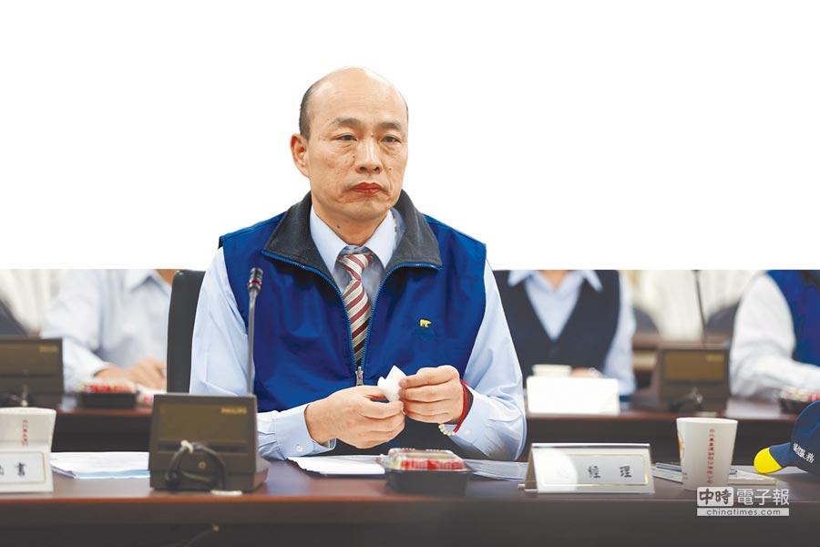 告一段落  ↑北農總經理韓國瑜昨出席董事會,會議中決議其辭職至本月31日生效。