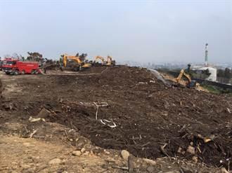 中市南屯悶燒枯樹枝今午撲滅 將儘速檢討廢木去化方式