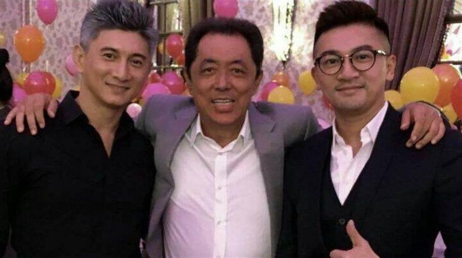 朱延平感嘆,台灣現在已經沒有明星了;圖為他和曾參與其電影演出的吳奇隆及蘇有朋合照。