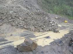投89線力行產業道路16公里又坍方 緊急搶修