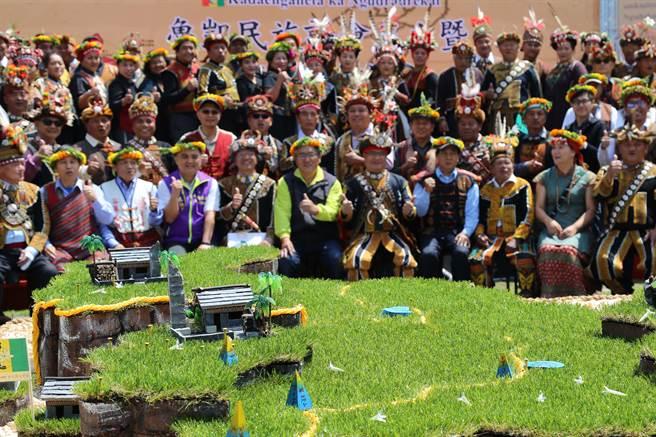 魯凱族民族議會成立,畫設魯凱族傳統領域。(潘建志攝)