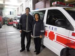 一場火警 母子檔踏入消防志工10餘年