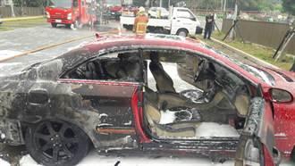 淡江大學停車場1轎車起火焚燬