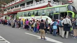 嘉縣公車阿里山線 持畫位車票者才有先上車權