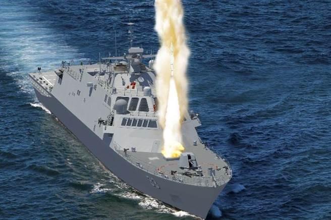 理論上瀕海作戰艦具有多功能,也有防空能力,但是實現表現有落差,美國海軍打算設計高性能的巡防艦。(圖/洛馬公司)