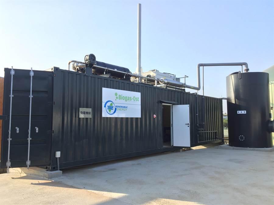 德國進口的新型沼氣發電設備系統,整套要價3000多萬元。(資料照,楊騰凱攝)