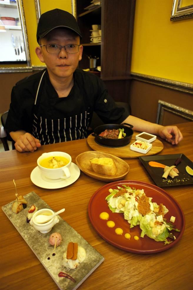 陳彥名為照顧小孩,在自家一樓開設私宅餐廳,吸引不少饕客尋香而來。(馮惠宜攝)