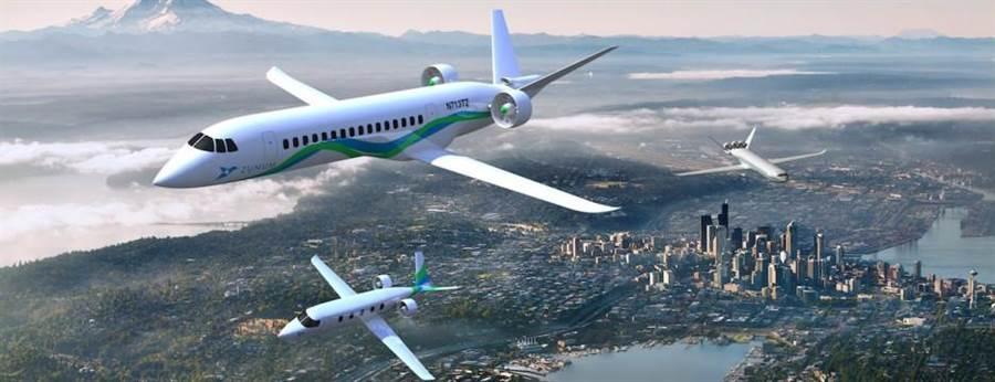 祖魯姆航空提出電動飛機構想,以充電電池驅動馬達導風扇來飛行。(圖/Zunum-Aero)