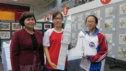 明倫國中美術班巧手 高難度紙雕重現世界地標