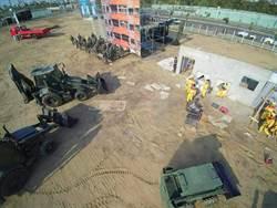 嘉義市萬安、民安演習 直升機、空拍機出動救援