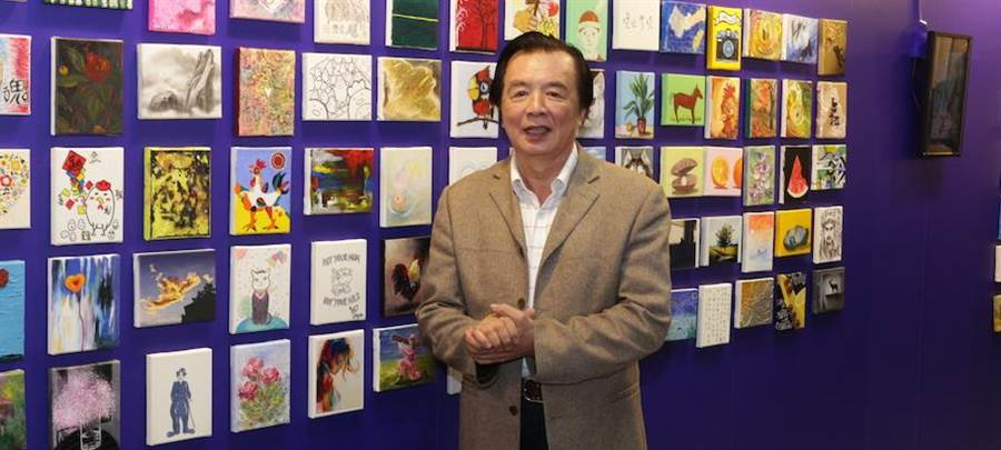 林志玲爸爸林繁男出席開幕。(台北新藝術博覽會提供)