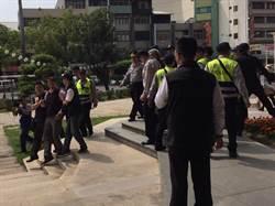 蔡英文到彰化 軍公教聯盟、員林國宅兵分兩路抗議