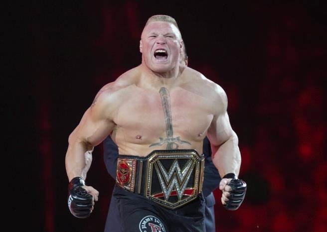 WWE職業摔角手萊斯納。(美聯社資料照)
