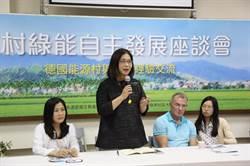 管碧玲推綠電 與德國再生能源模範市副市長對談