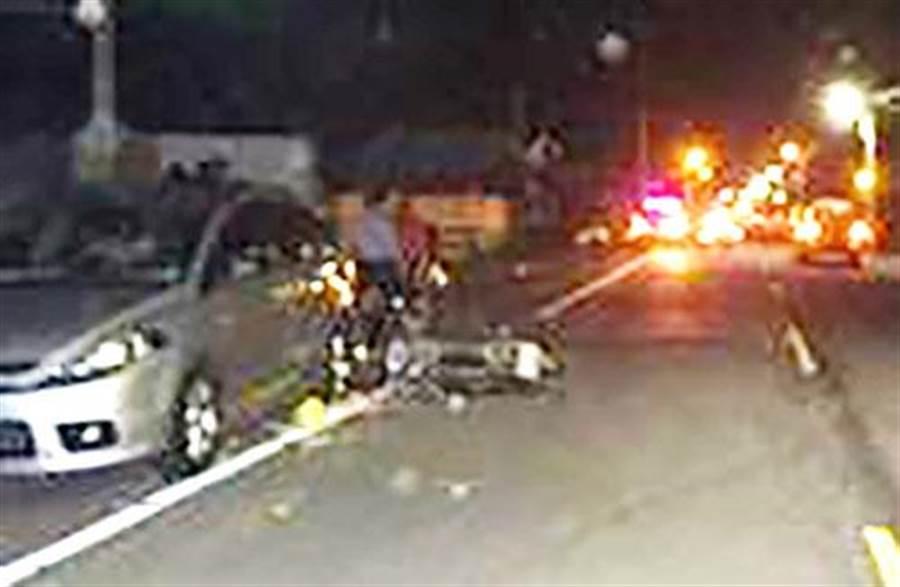 徐男酒後逆向騎車,發生車禍喪命。(林宏聰翻攝)