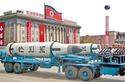北韓大閱兵 亮飛彈嗆美
