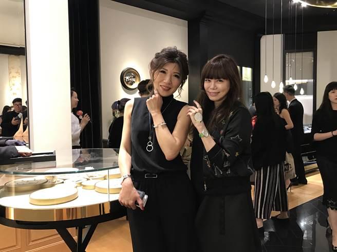 Piaget 台灣區總經理 劉玉璇 與 樂時尚總編輯 溫筱鴻(圖╱ Styletc)