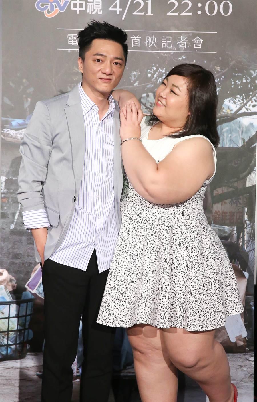 藍葦華、廖慧珍在《TMD天堂》演夫妻。(中視)