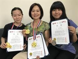 首次出國比賽就拿獎 康寧大學師徒三人奪美容與健康奧運3金1銀