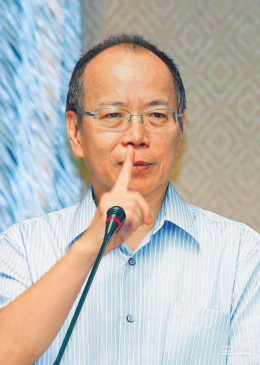 政委張景森在臉書貼文批新北市長朱立倫「靠北中央」,指天龍國過去花的錢是地鼠國未來的3倍。(本報資料照片)