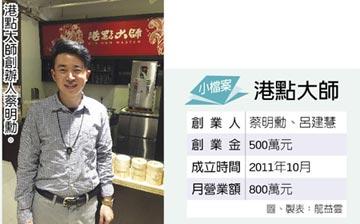 微型創業-創辦人蔡明勳、呂建慧擺脫傳統3元素 食在安心 港點大師遍地開花