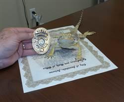 冷血刑事報到 美國警局任命蜥蜴任緝毒員