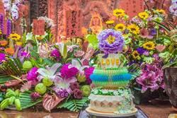 六甲恆安宮媽祖聖誕 創意蛋糕獻壽祈福