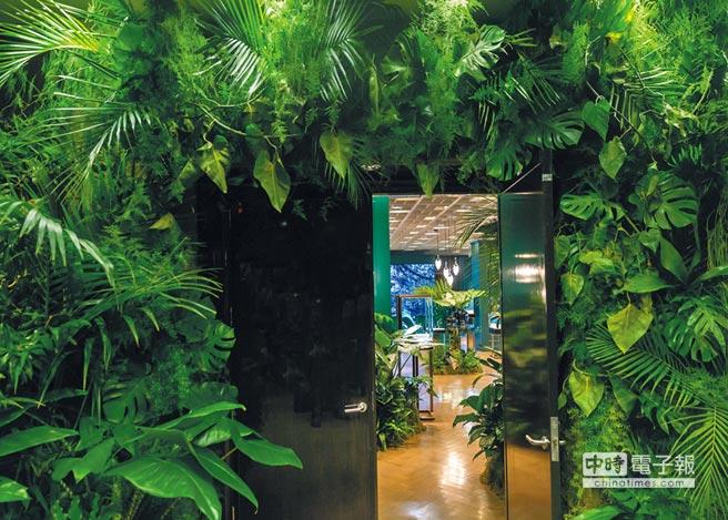Tiffany 2017 Blue Book系列以大自然主題為發想,現場也布置成叢林之境,呼應設計主軸。