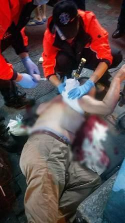 台南市東區傳出凶殺案 男被友人持武士刀刺中後背